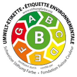 Umwelt-Etikette Schweizer Stiftung Farbe